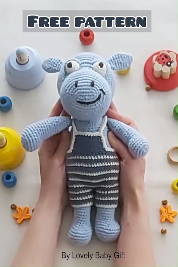 Photo of Free Hippo Crochet Pattern, Amigurumi Animal