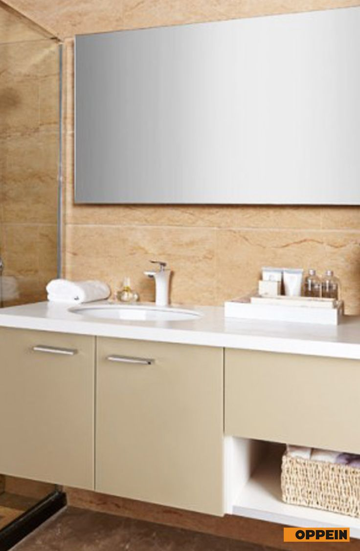 Modern Light Color High Gloss Acrylic Bathroom Cabinet   Bathroom ...