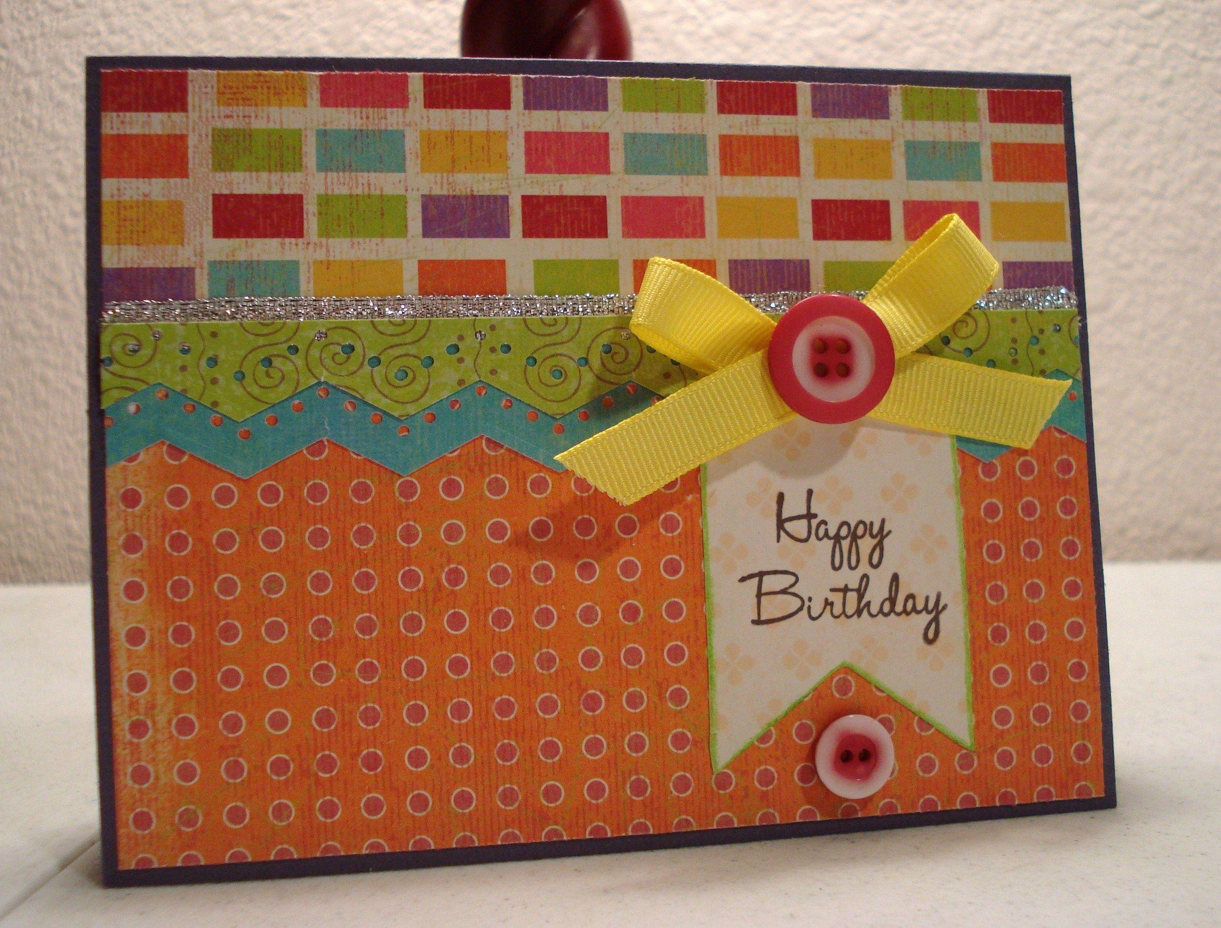 How to scrapbook greeting cards - Birthday Card Scrapbook Com
