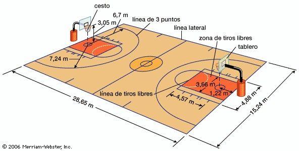 Medio Cancha Campo Baloncesto Medidas Cancha De Futbol Cancha De Baloncesto