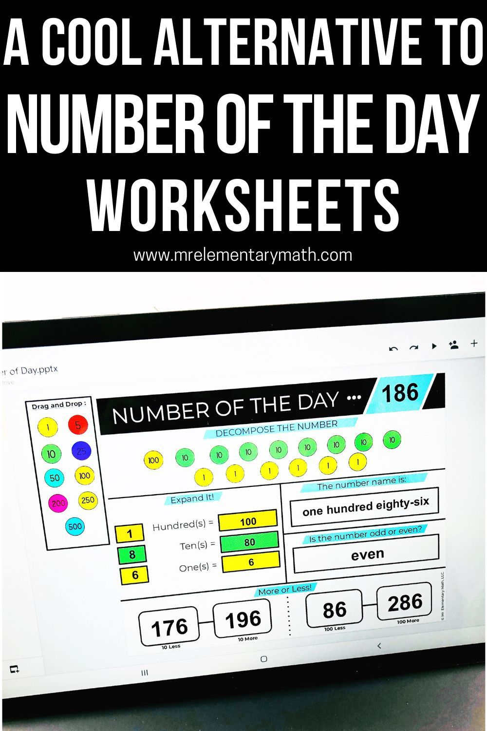 A Cool Alternative To Number Of The Day Worksheets Math Blog Elementary Math Number Sense Activities [ 1500 x 1000 Pixel ]