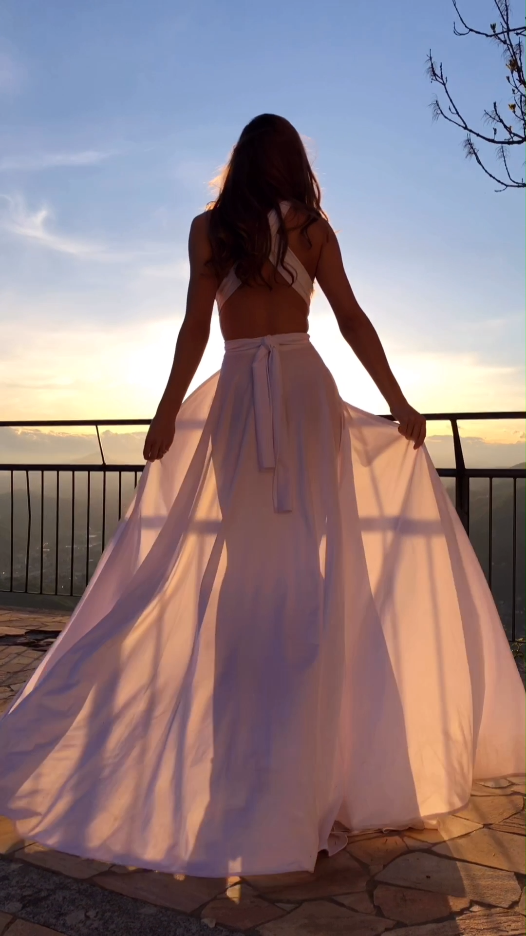 Photo of White wedding Top to Bottom convertible dress for woman