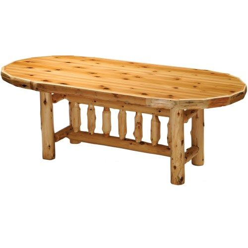 Log Kitchen Table: Lodge Furniture, Dining Table In