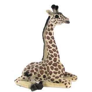 This Detailed Resin Baby Giraffe Laying Down Figurine Captures The - Sporting clay window decalsgiraffe garden statue giraffe clay pot clay pot animal