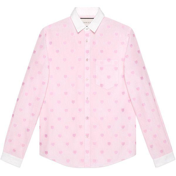 bd3c3990 Gucci Tiger Head Fil Coupé Duke Shirt ($580) ❤ liked on Polyvore featuring  men's fashion, men's clothing, men's shirts, men's casual shirts, gucci  mens ...