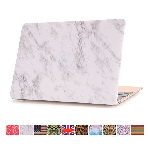 """Macbook 12 Inch Case,Dowswin Matt Hard Shell Rubberized Plastic Protective Solid Case Cover for Apple Macbook Retina 12.1"""" Model A1534 laptop(Marble Texture)"""