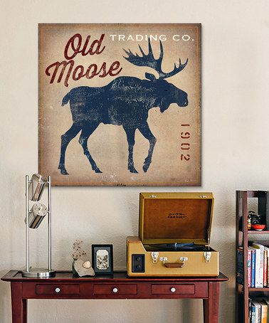 Ryan Fowler Old Moose Trading Co Gallery Wrapped Canvas
