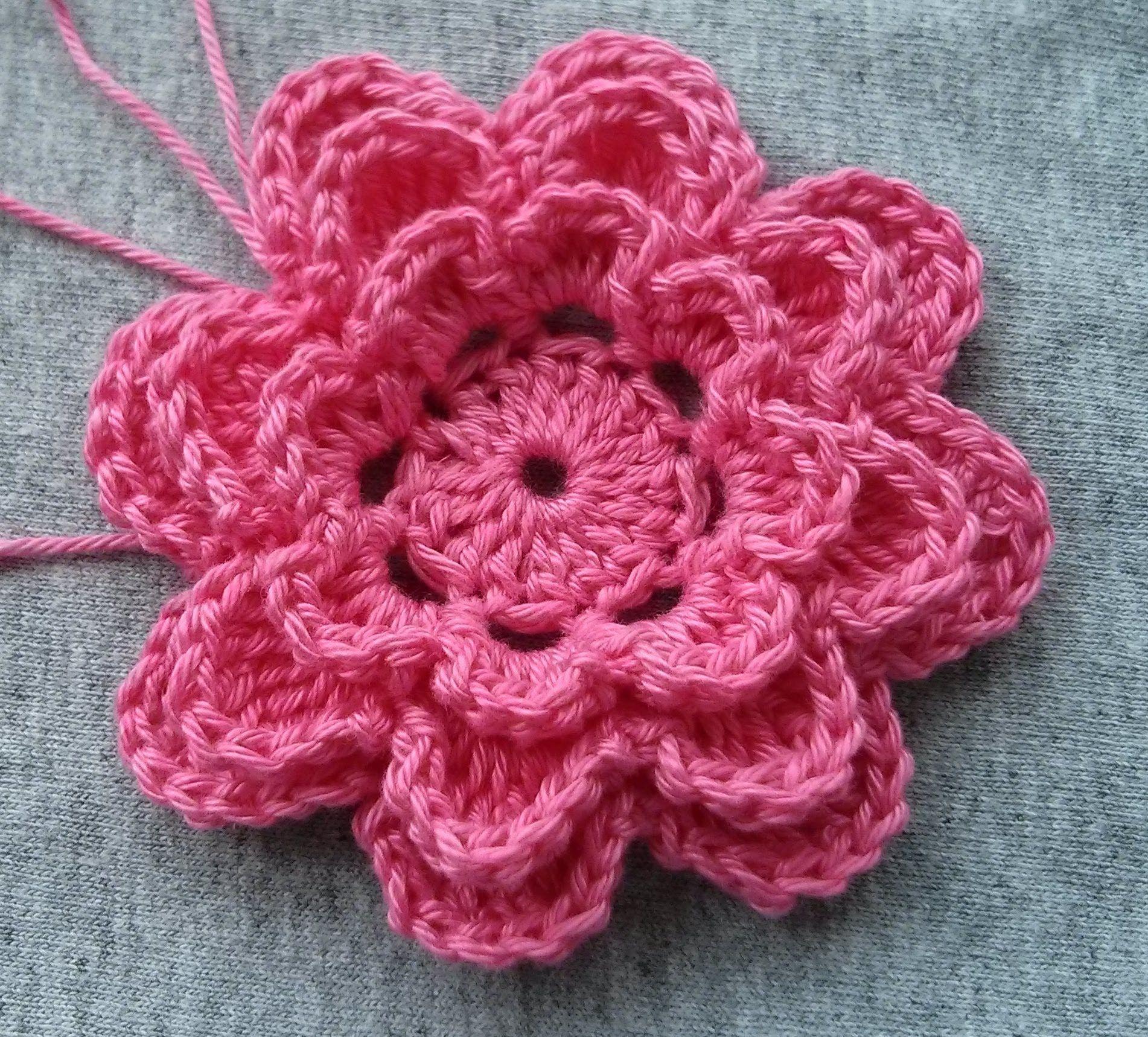 Crochet flower 2 | Modelo de crochê | Pinterest | Flores, Flor y ...
