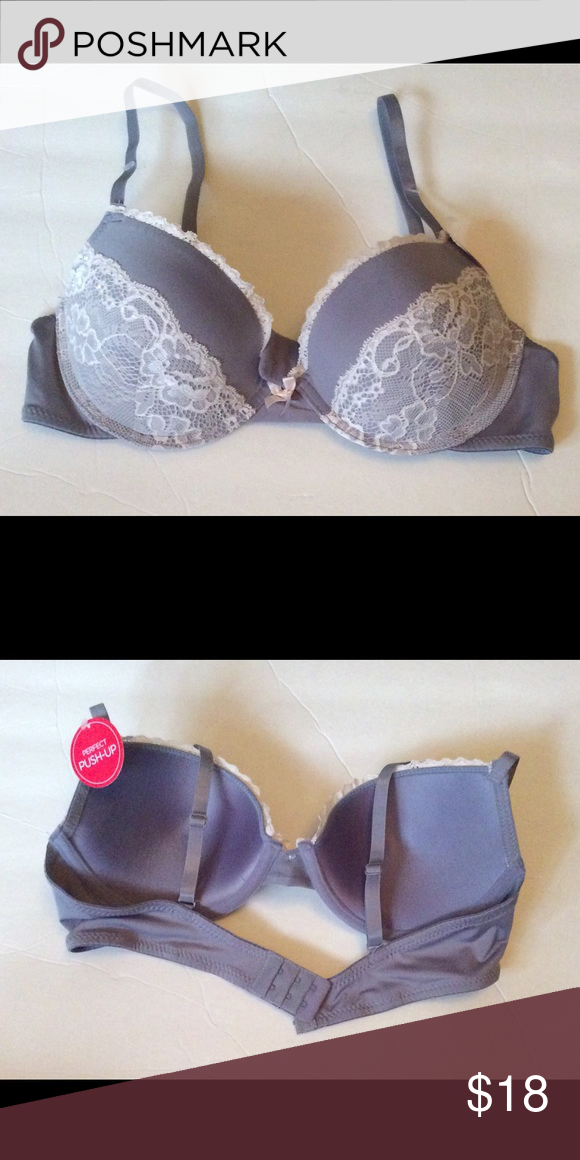 c6a552d95b7c9 Marilyn Monroe Perfect Push-Up Lace Bra 34C NWT Marilyn Monroe Perfect Push-Up  Lace Bra 34C. Gray