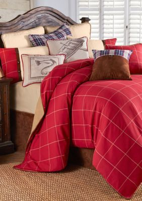 Hiend Accents  South Haven Comforter Set - Red - Queen