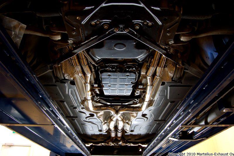 Mercedes CLK63 AMG Black Series custom stainless exhaust