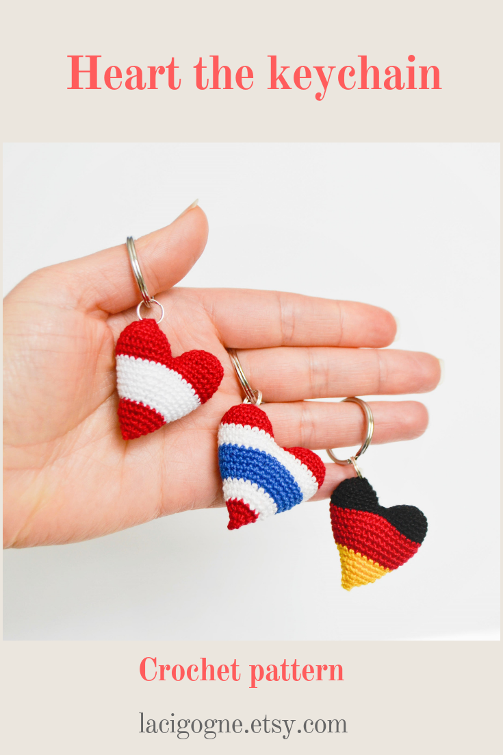 Mini Amigurumi Heart Pattern - Grace and Yarn | 1102x735