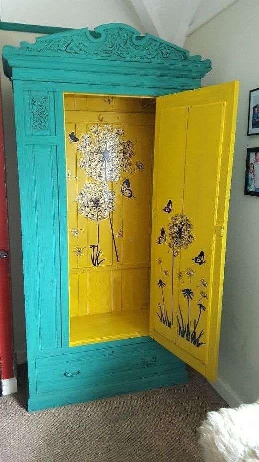 Come dipingere un armadio ideas to steal idee for Mobili colorati design
