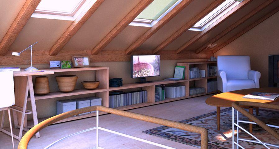 Buhardilla despacho estudio pinterest attic - Decoracion de buhardillas ...