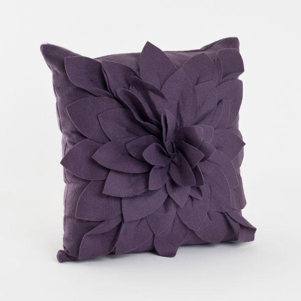 Saro Flower Decorative 40inch Felt Throw Pillow Wine Red Size Gorgeous Fairon Decorative Throw Pillow