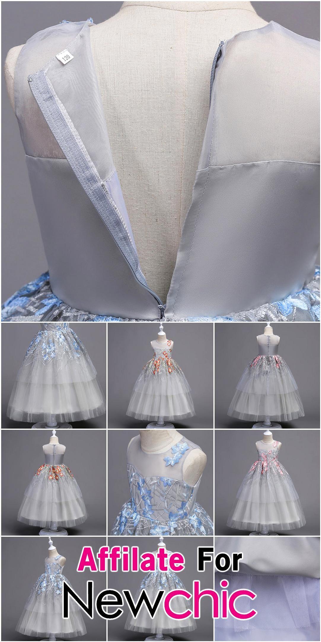 Elegant Embroidery Girls Kids Formal Pageant Wedding Princess Dress For 4Y15Y USD 4719 Elegant Embroidery Girls Kids Formal Pageant Wedding Princess Dress For 4Y15Y USD 4...