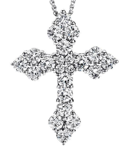Jewels By Lux Sterling Silver Womens Round Cubic Zirconia CZ Cross Fashion Pendant Set With The Highest Quality Cubic Zirconia.