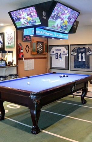 The ultimate game room dallas cowboys style birthday - Home game room ideas ...