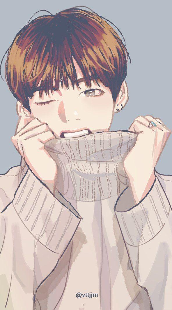 V Is That Chu Taehyung Fanart Bts Fanart Bts Drawings