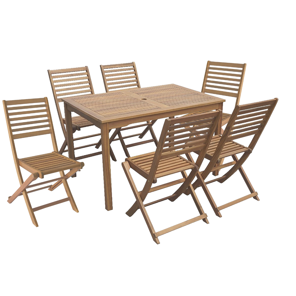 Florenville Wooden 6 Seater Garden Furniture Set In 2020 Garden Furniture Sets Garden Table And Chairs Garden Furniture