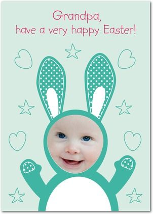 personalized easter cards bunny snapshot from treat com happy