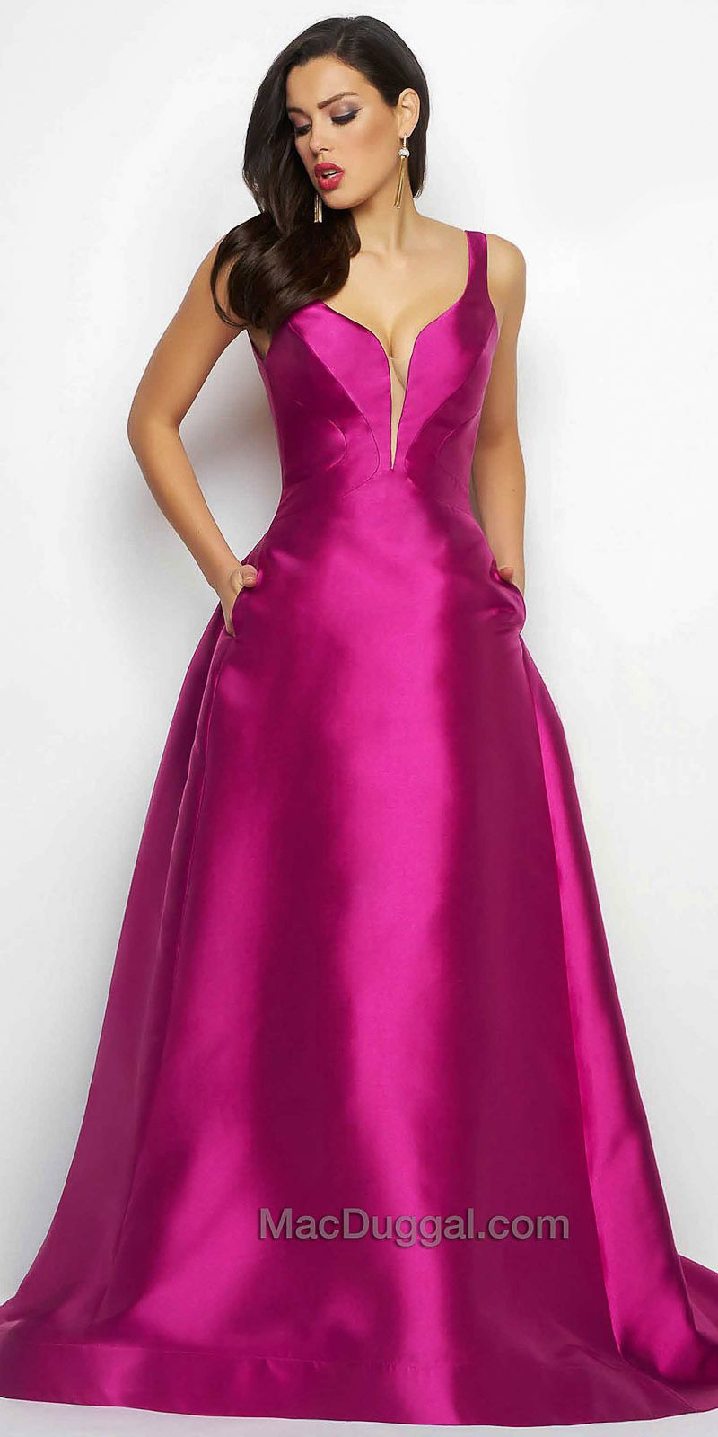 Plunging Sweetheart A-line Ball Gown by Mac Duggal #edressme ...