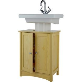 Tongue And Groove Under Sink Storage Unit Pine Effect At Argos Co