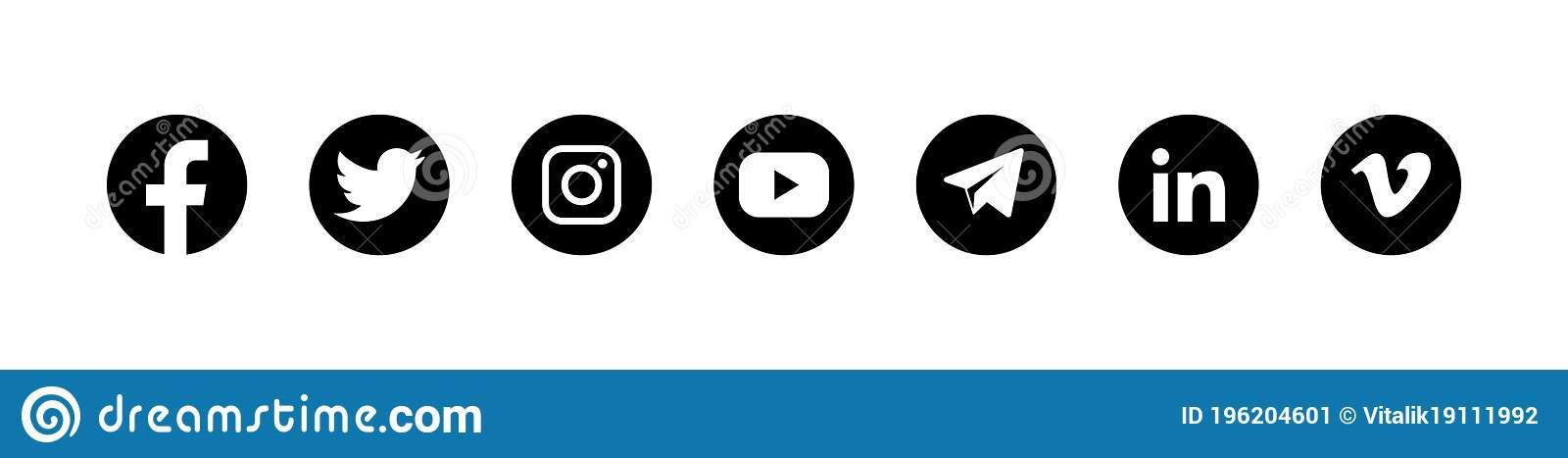 Pin By Samantha Admirer On Edits Social Media Logos Social Media Icons Social Media
