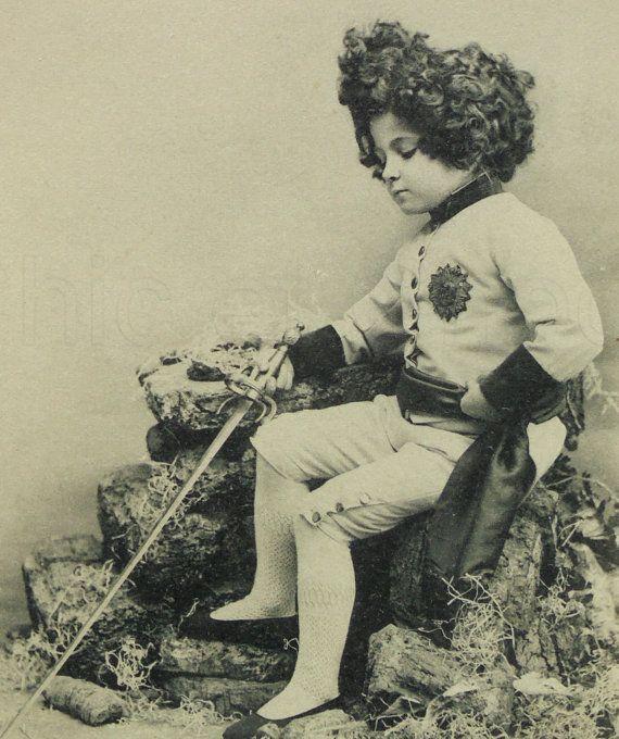 French Antique Postcard - Little Napoleon II 'The Eaglet' (L' Aiglon)
