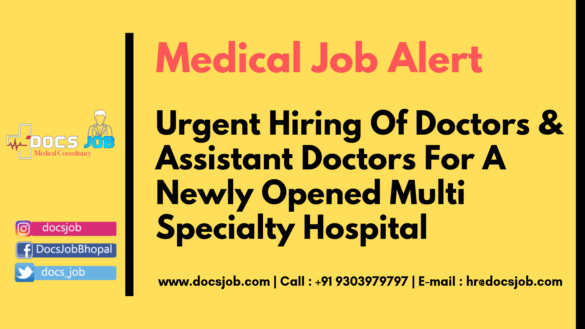 Pin By Docs Job On Medical Jobs Medical Jobs Doctor Assistant Hospital