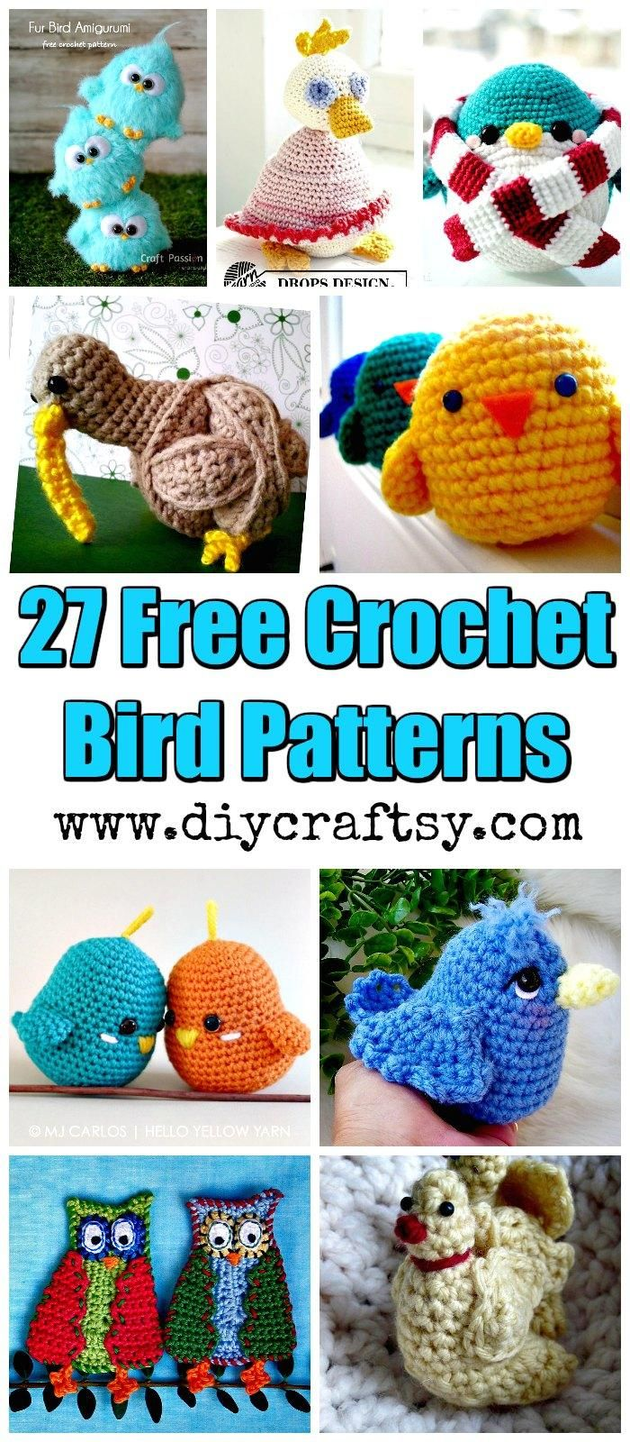 27 Free Crochet Bird Patterns You\'ll Love | Patrón gratis, Ave y ...