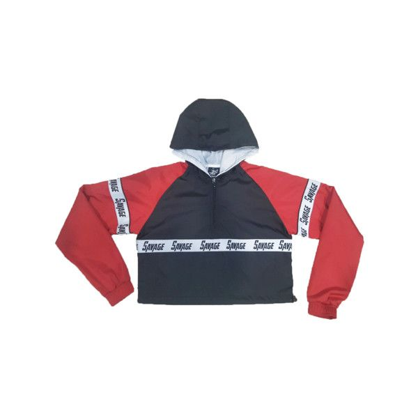 b20abb34e SAVAGE CROP WINDBREAKER ($62) ❤ liked on Polyvore featuring ...