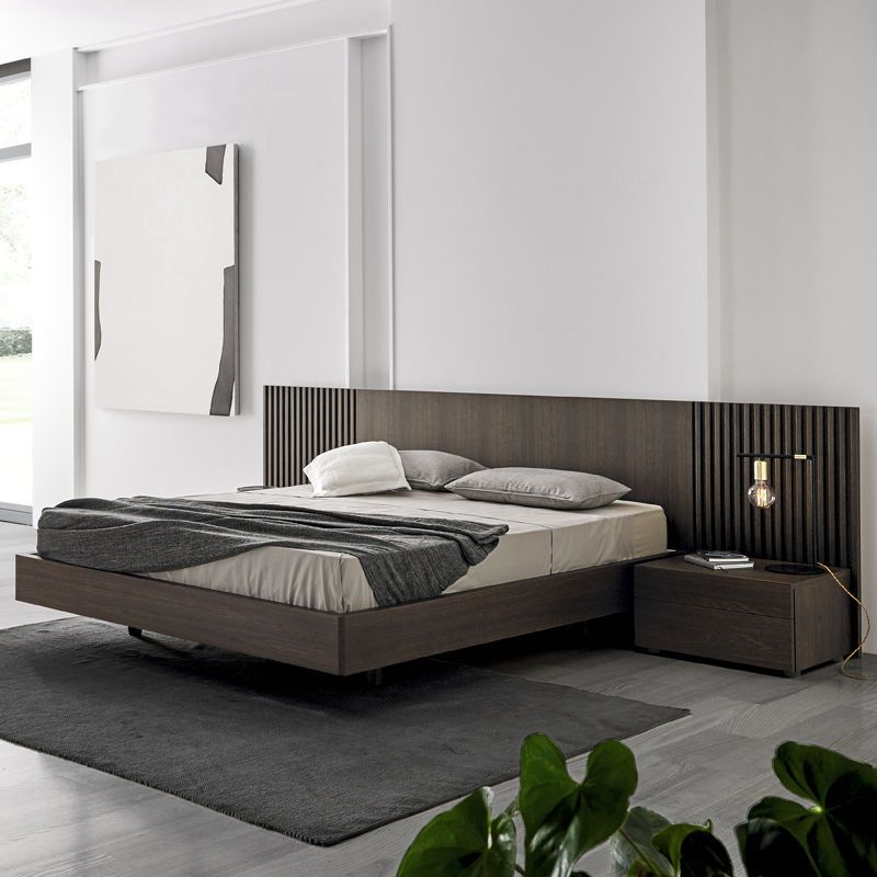 Double Bed Contemporary With Headboard With Side