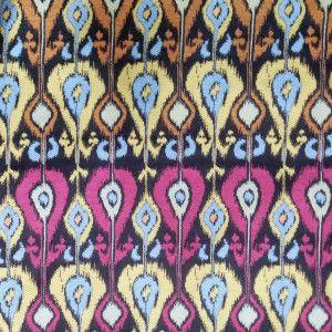 Hot Item Ikat Jacquard Woven Sofa Armchair Garment Bag Fabrics Jacquard Weave Sofa Armchair Fabric