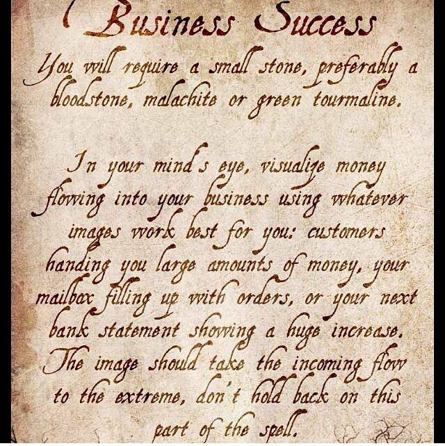 Business Success Spell Hoodoo Spells Success Business Spells For Beginners