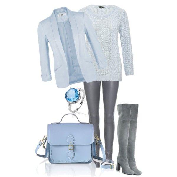 cool blue by design-21 on Polyvore featuring polyvore fashion style M&Co Miss Selfridge Balenciaga Prada The Cambridge Satchel Company