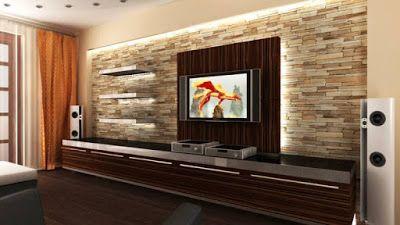 15 Modern TV Wall Design Home Interior Designs Tv pannels
