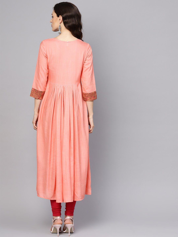 Women 39 S Viscose Rayon Maxi Dress In Peach Maxi Dress Dresses Print Dress [ 1440 x 1080 Pixel ]