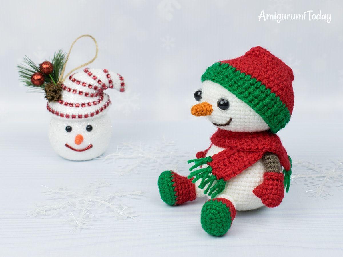 Cuddle Me Snowman amigurumi pattern - Amigurumi Today | 900x1200