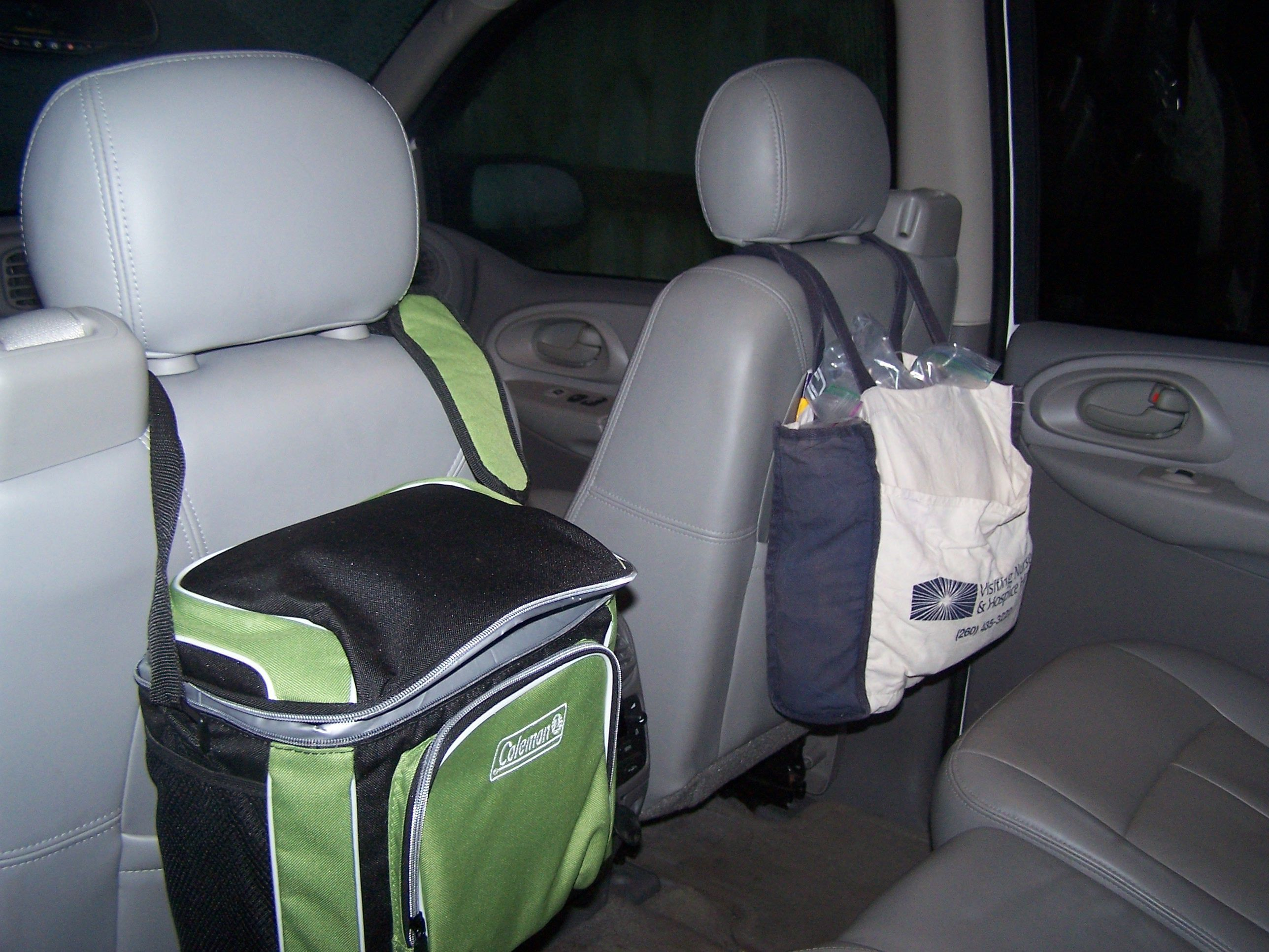 I used a hard sided cooler to hold all my kids electronic gadgets, and…