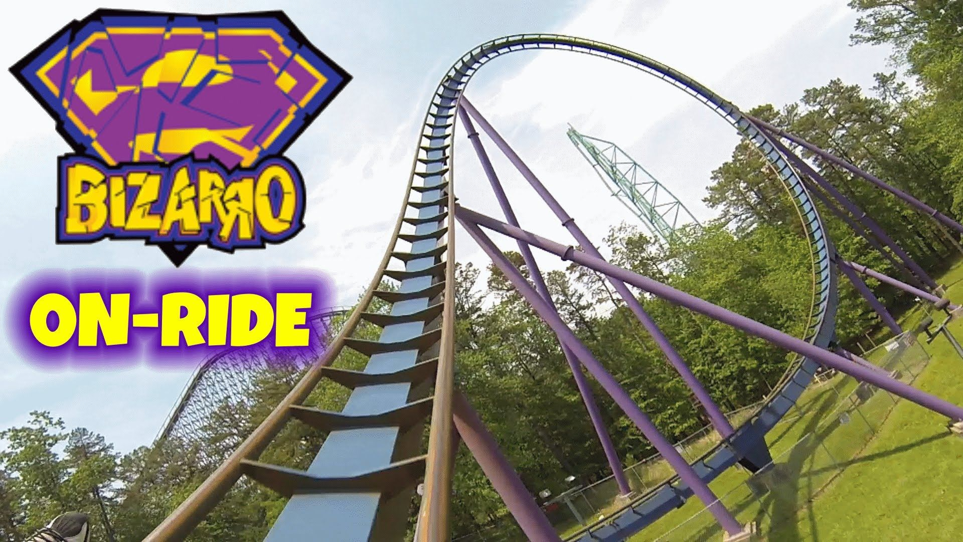Bizarro On Ride Front Seat Hd Pov Six Flags Great Adventure Six Flags Great Adventure Thrill Ride Greatest Adventure