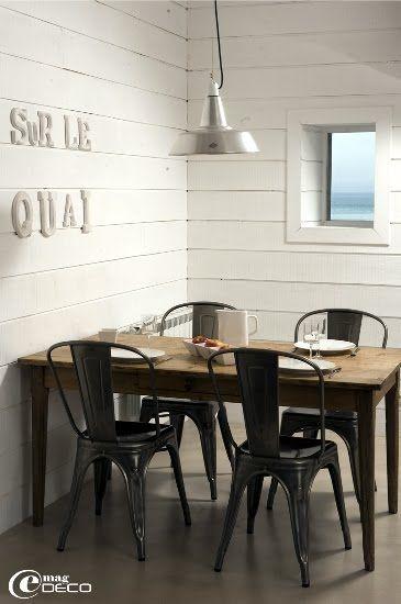 E magdeco la maison sur le quai chaises modern farmhouse dining table chairs - Restaurant la salle a manger a salon de provence ...