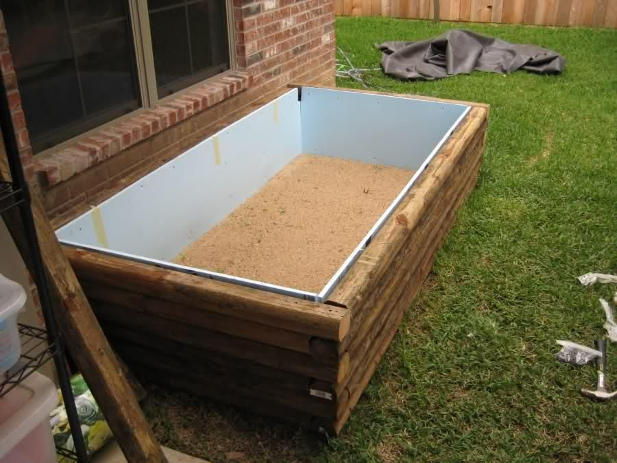 How To Make A Raised Wooden Pond Google Search Small Backyard Ponds Above Ground Pond Outdoor Ponds