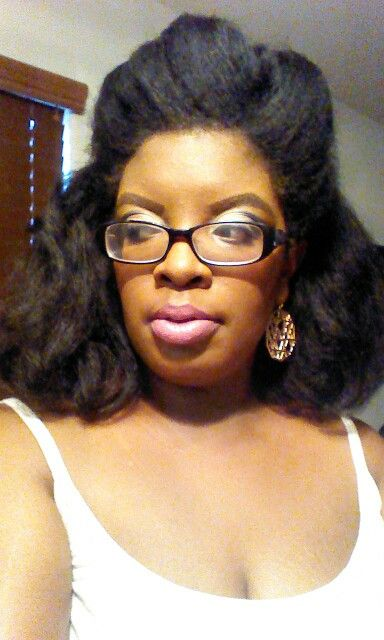 Blow Out on Natural Hair   #naturalhair#blownouthair
