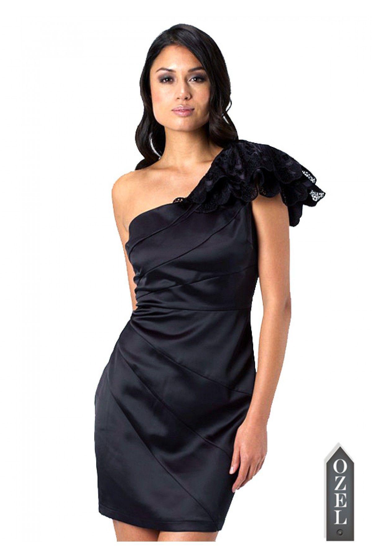 Lipsy One Shoulder Cocktail Dress by Ozel Studio