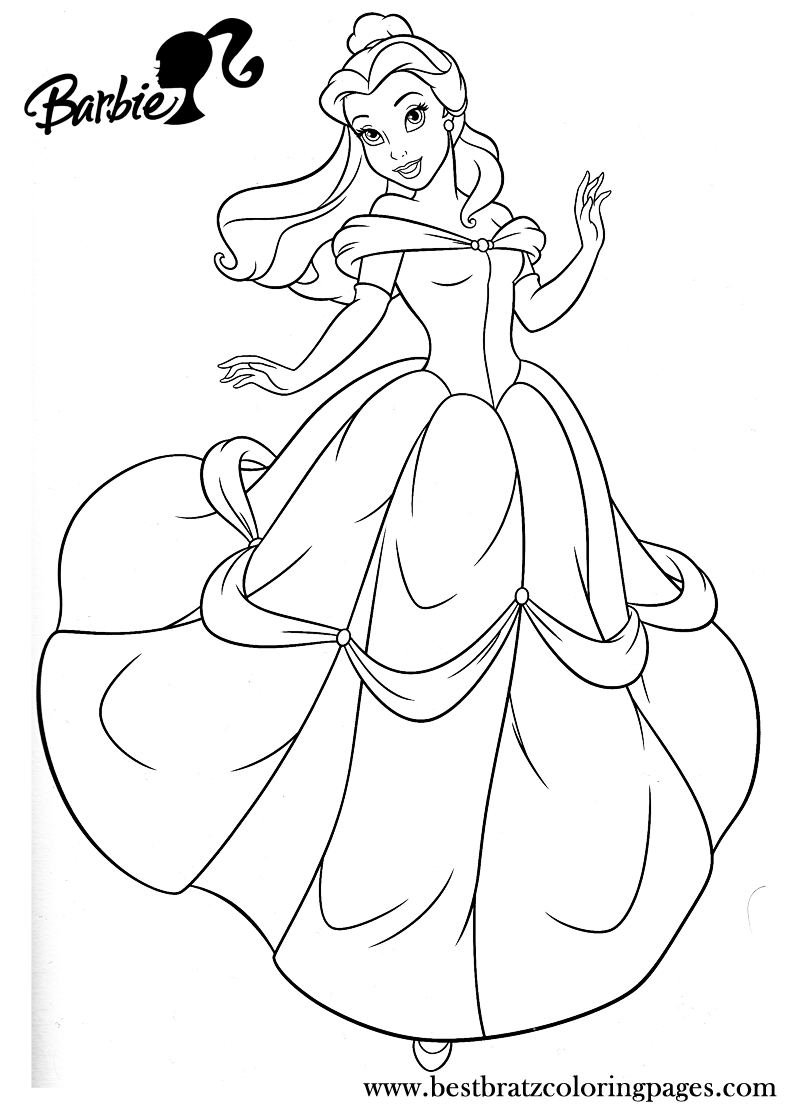 Barbie Princess Coloring Pages | Bratz Coloring Pages | imagenes ...