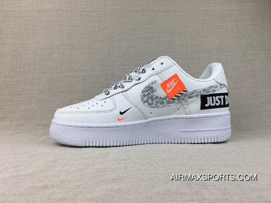 Nike Air Force 1 07 Low Just Do It White Shoes Best Price BQ5361 100