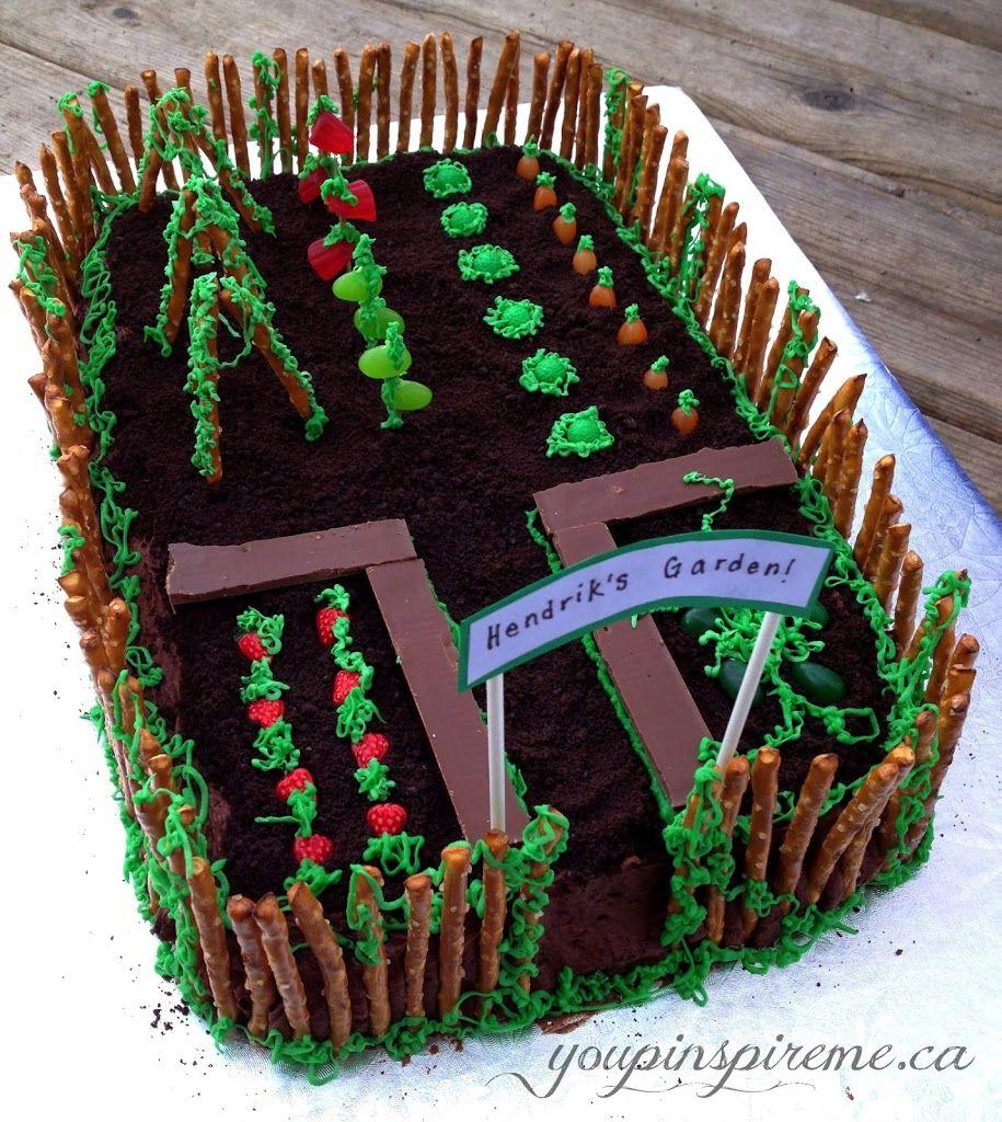 Garden theme birthday cake theultimateparty week 3 for Decoration theme jardin