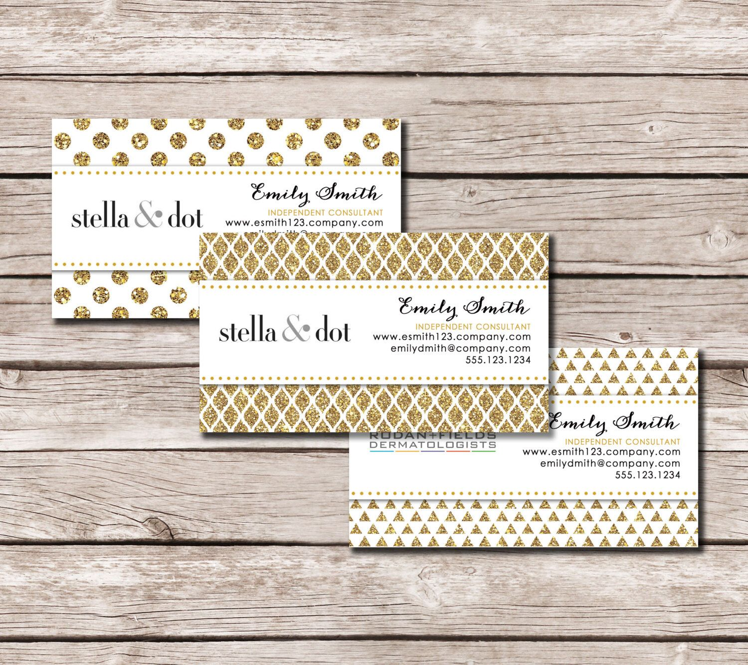 So excited about my new listing 6 glitter gold patterned business 6 glitter gold patterned business cards for rodan and fields stella and dot mary kay and thirty one any business logo colourmoves