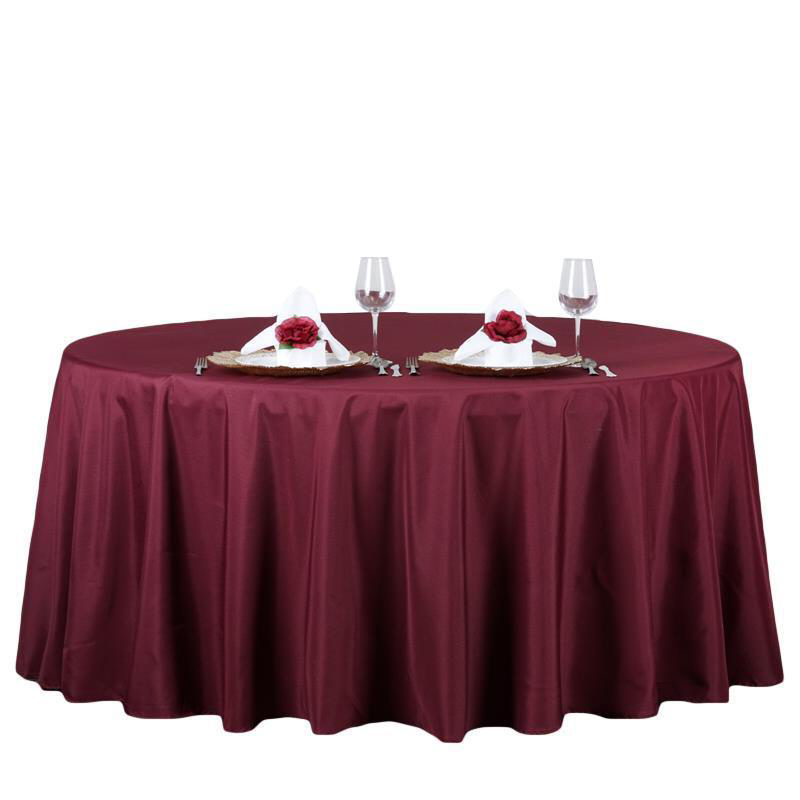 132 Burgundy Polyester Round Tablecloth Round Tablecloth Flower Table Decorations Easter Table Decorations